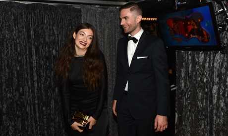 Lorde and songwriter Joel Little, winners of the award for song of the year for Royals Photograph: Mark Davis/WireImage