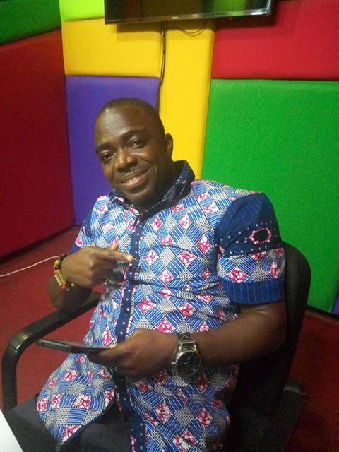 Sammy at Okay FM studios handling his first show