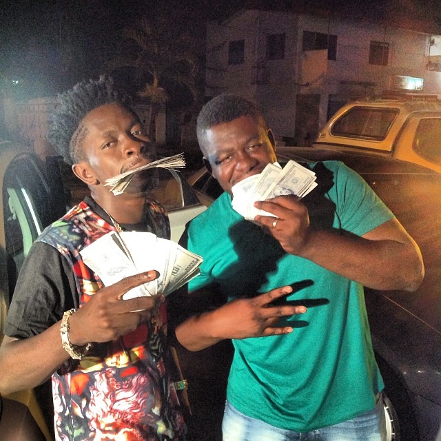 Shatta Wale and his manager Bull Dog