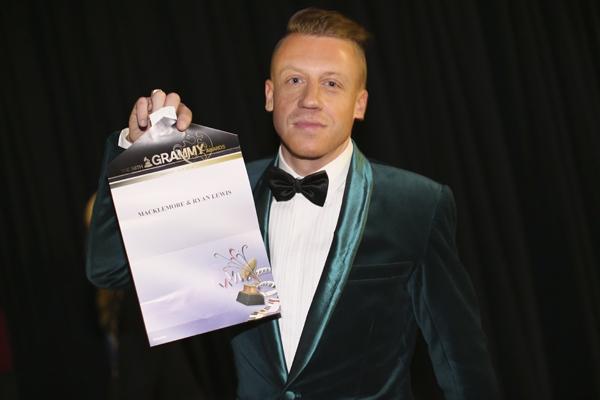 Macklemore, winner of Best New Artist.