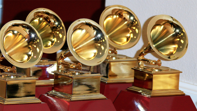 LAS VEGAS - NOV 19: Grammy Award Statues at the 16th Latin GRAMMY Awards at the MGM Grand Garden Arena on November 19, 2015 in Las Vegas, NV; Shutterstock ID 341425286; Usage: web; Issue Date: n/a