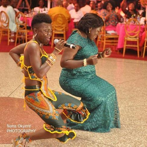 The Minister is way too excited (Pix- Nana Okyere)