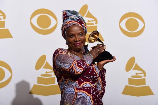 Angelique Kidjo with her 2nd Grammy