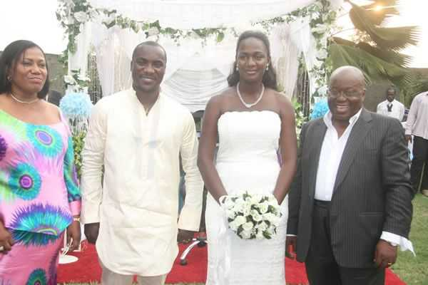 The President, Nana Addo, was present at the wedding.