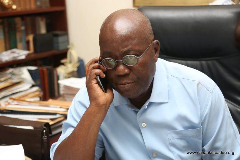 The President getting too many calls (pix courtesy- nanaaddo.org)